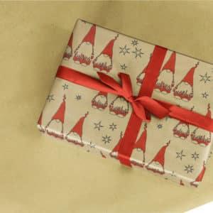 papier cadeau nains noel