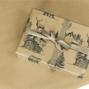papier cadeau montagnard