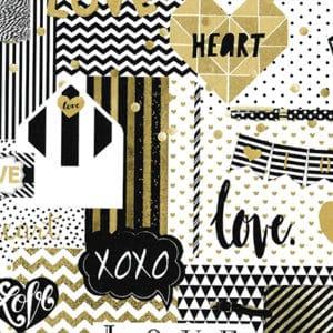 papier cadeau imprimé message amour