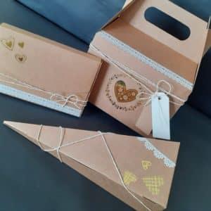 Boites emballage cadeaux kraft personnalisable.