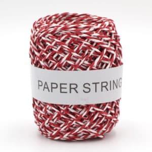 Ficelle de papier blanche et rouge