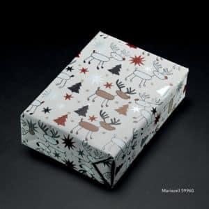 papier cadeau rennes de noel