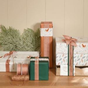 Nos papiers cadeaux, pour enfants, femme, homme. Luxe, kraft, recyclé...