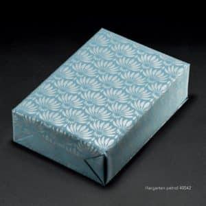 Papiers cadeaux Bleu pétrole & Argent.