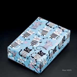 papier cadeau souris et chat enfant