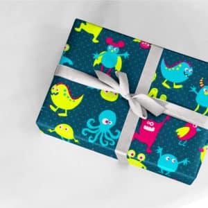 papier cadeau enfant animaux