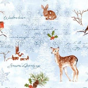 papier cadeau motif de noel neige