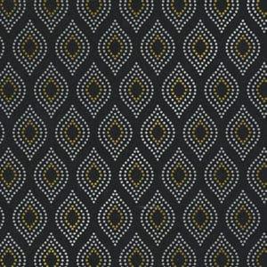 Papiers cadeaux Noir, Or & Argent. Motif design, moderne et élégant.