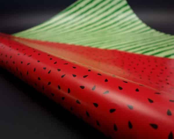 Papier cadeau original pour l'été fruit pastèque