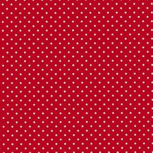 papier cadeau rouge a pois blanc