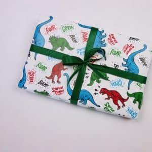 papier cadeau dinosaure