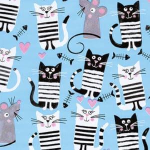 papier enfant chat bleu