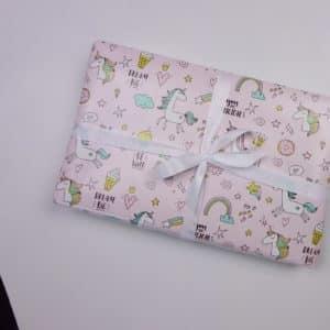 papier cadeaux licorne rose fille
