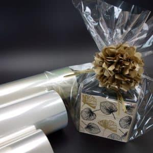 papiers transparent coffret cadeaux