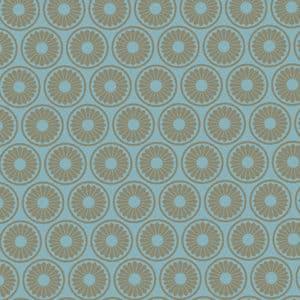 Papier cadeauHoetmar bleu acier motif or. Haut de gamme. Ecologique.