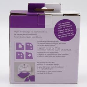 Perforatrice 4 coins Heyda. Personnalisez les angles de vos étiquettes. Formes de coeurs ou étoiles.