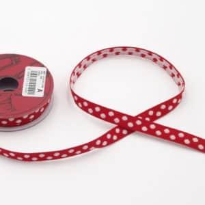 ruban à pois rouge et blanc