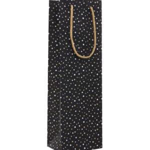 sac cadeau noir étoile bouteille