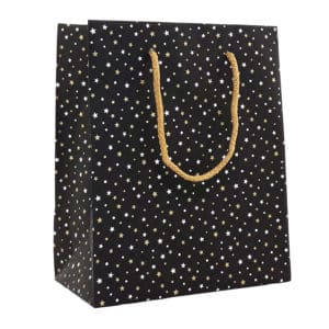 sac cadeau noir étoile