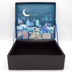 boite cadeau 3D paysage noel