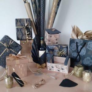 box découverte emballage cadeaux