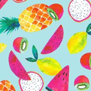 Papier cadeaux aux fruits d'été