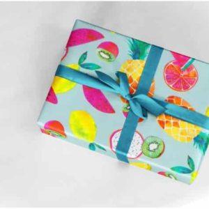 papiers cadeaux fruit été