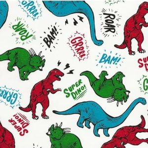 papier cadeaux dinosaure